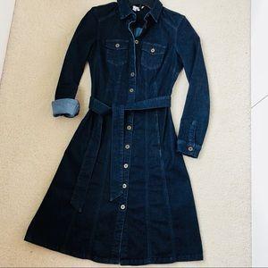 Boden Blue Denim Shirt Dress